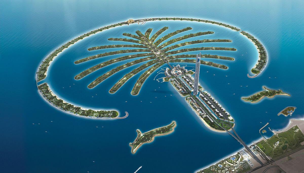 Trouble in paradise as plumbing problems hit Dubais Palm Palm shaped island dubai pictures