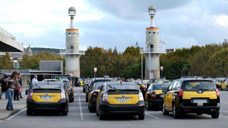 Забастовка таксистов в Барселоне