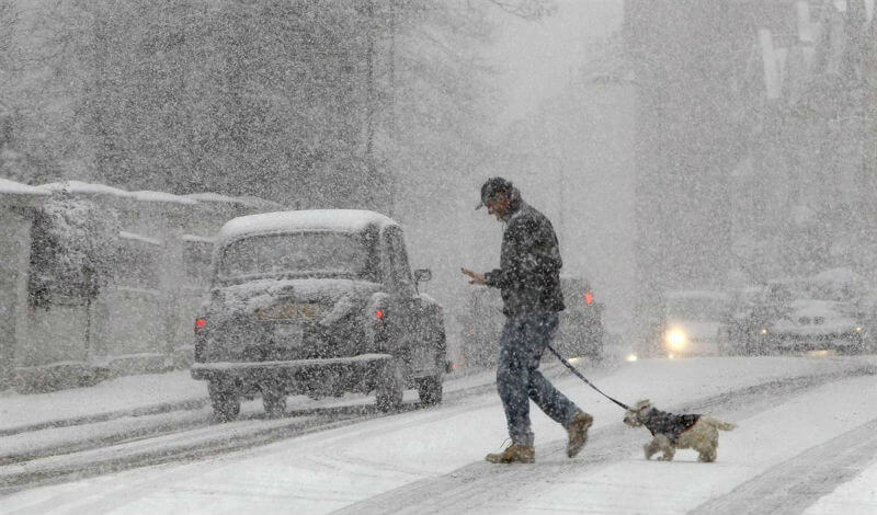 В Европе то дождь, то снег