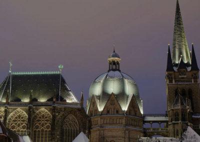 Ахенский собор ночью