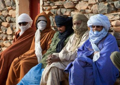 Туареги, местное население нагорья