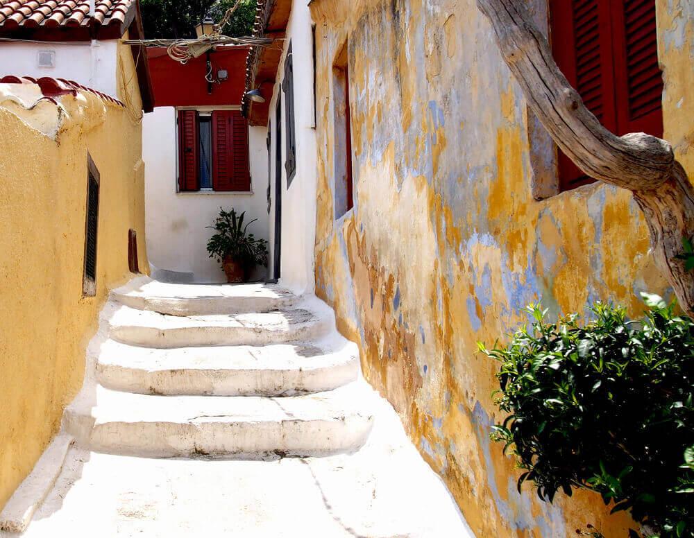 Район Анафиотика в Афинах