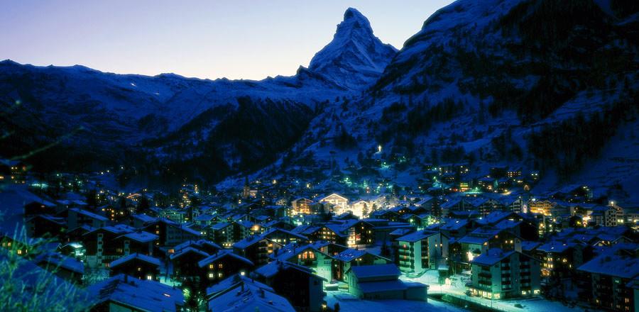 Горный курорт Церматт входит в дюжину самых лучших курортов Альп