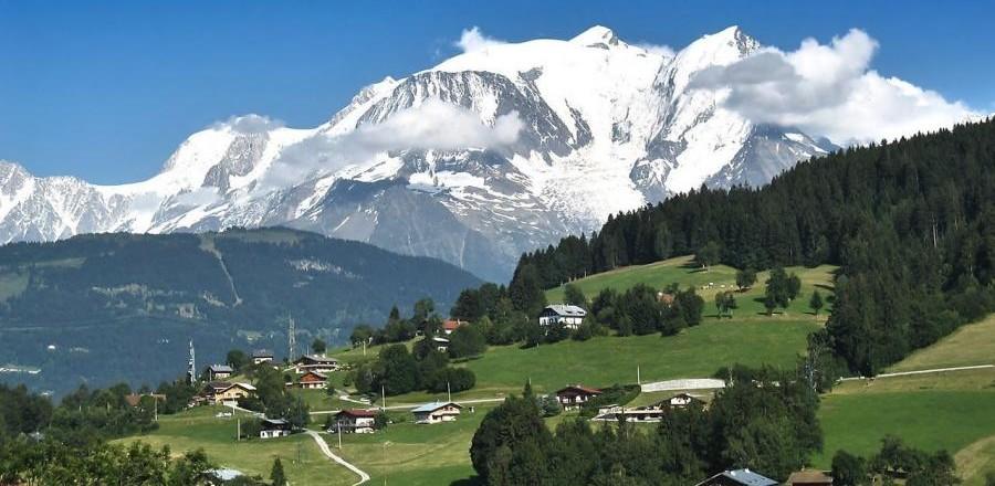 Швейцарские альпы, вид на долину
