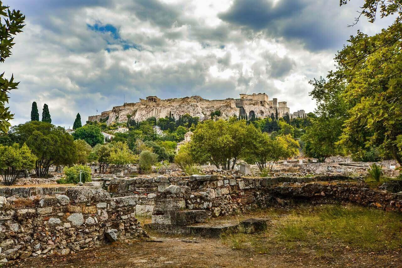 Вид на Акрополь