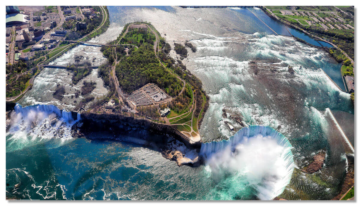 Вид на водопад «Подкова»с высоты