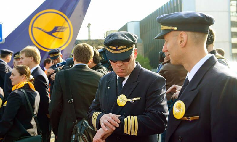 Забастовка пилотов Lufthansa