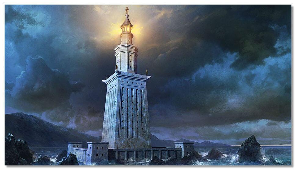 Александрийский маяк — фаросское чудо света