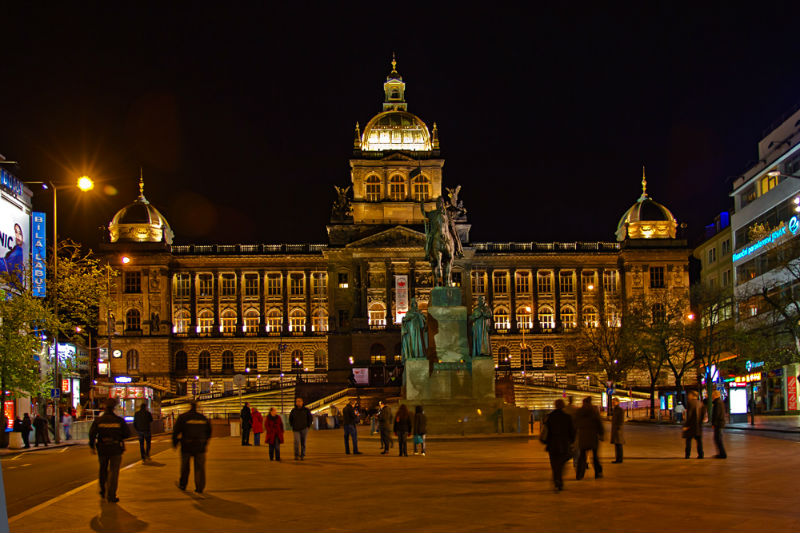 Борьба за чистоту на Вацлавской площади в Праге