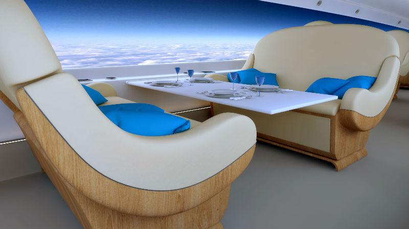 Панорамные окна в самолетах «Боинга»