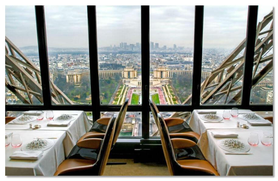 Париж, Эйфелевая башня, ресторан