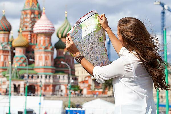 Россия привлекает туристов