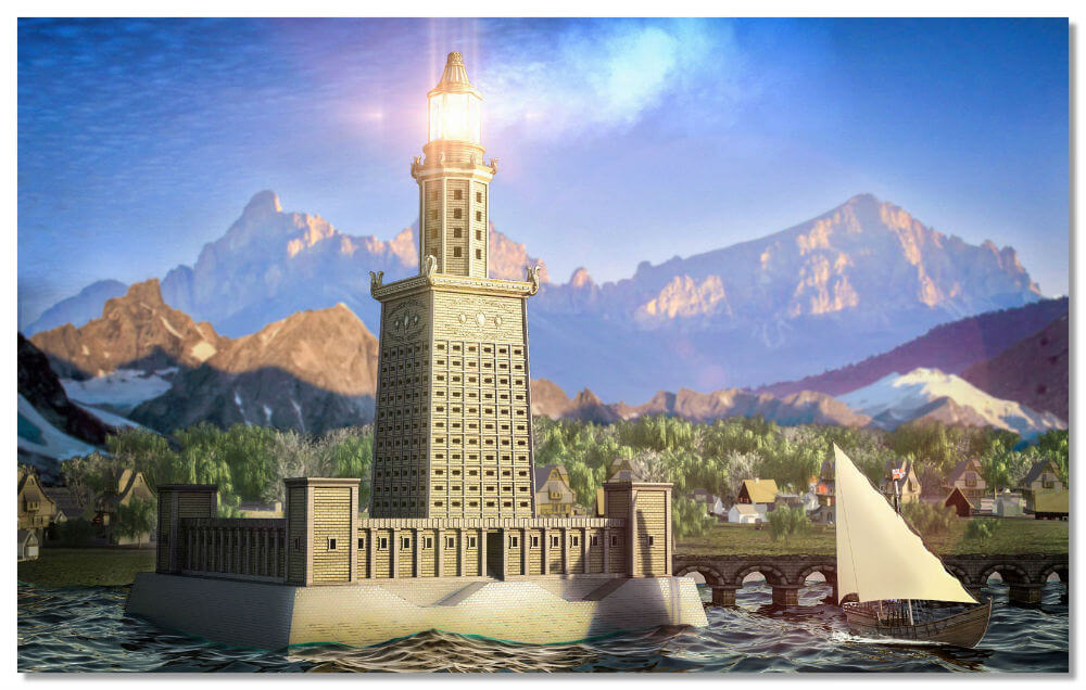 Чудо света — Фаросский маяк.