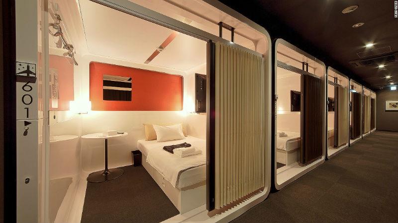 Капсульный отель в Италии