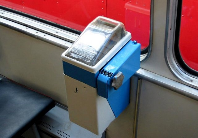 Билетные автоматы в троллейбусах Симферополя