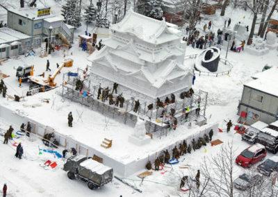Подготовка к празднику снега в Саппоро
