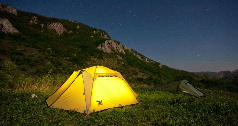 Лагерь для туристов в «Тихой Бухте»