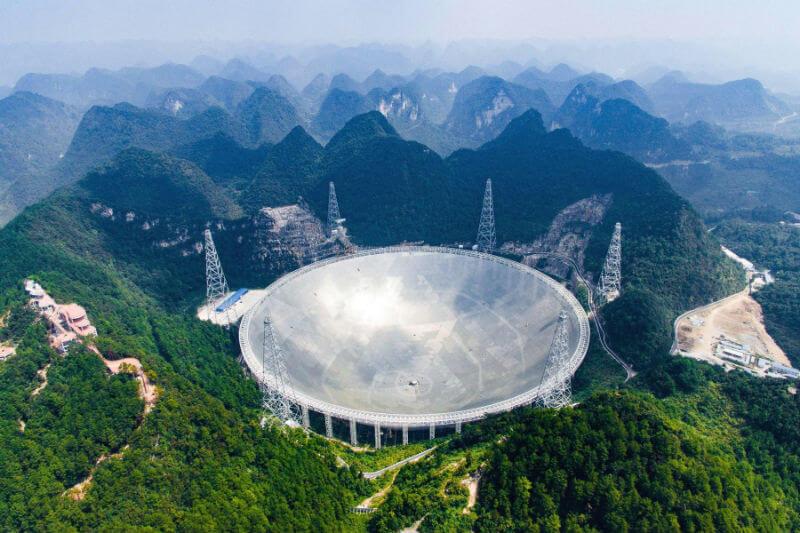 Самый большой радиотелескоп FAST доступен для туристов