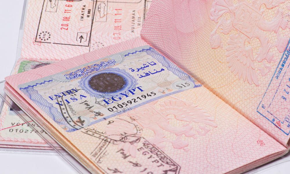 Стоимость визы в Египет останется на прежнем уровне