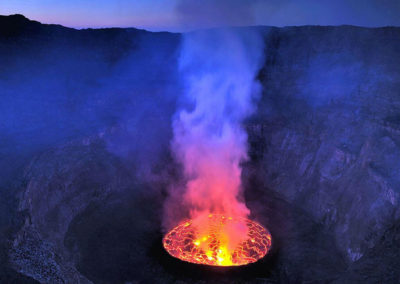 Вулкан в Демократической республике Конго