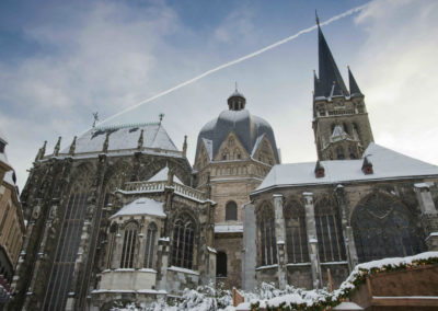 Ахенский собор зимой