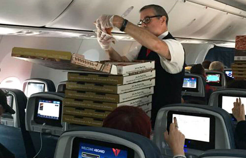 Пицца от авиакомпании