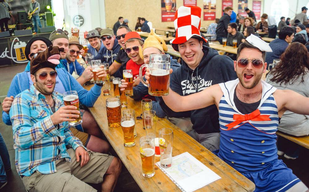 Прага встречает пивной фестиваль