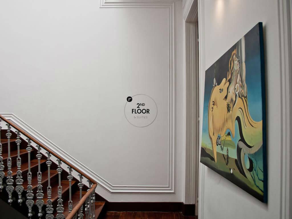 2 этаж хостела The Independente в Лиссабоне