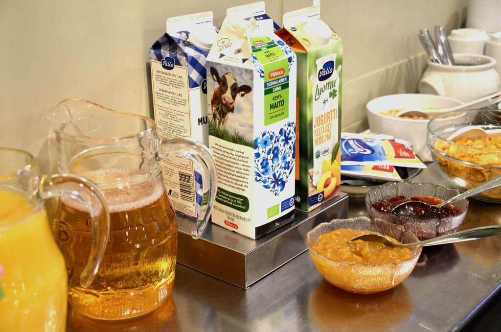 Еда в хостеле Suomenlinna