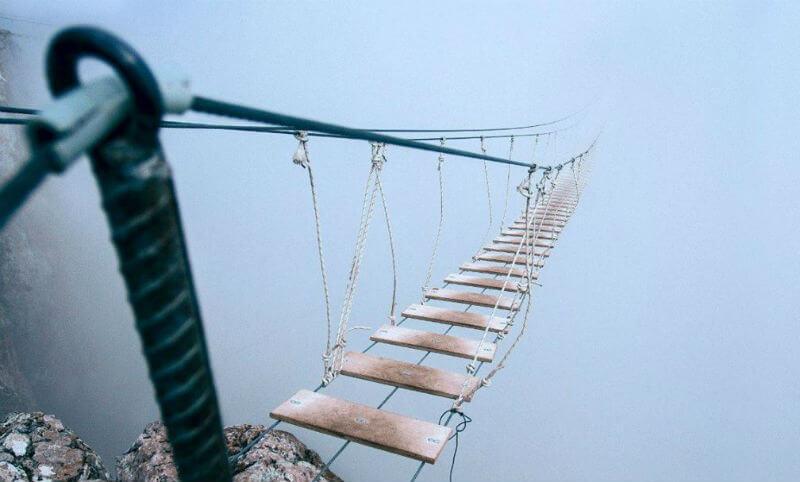Новый подвесной мост в Ялте