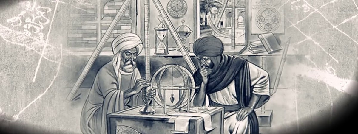 Аль-Хорезми с коллегой-ученым