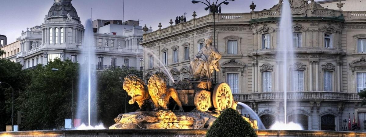 Фонтан в Мадриде, Испания
