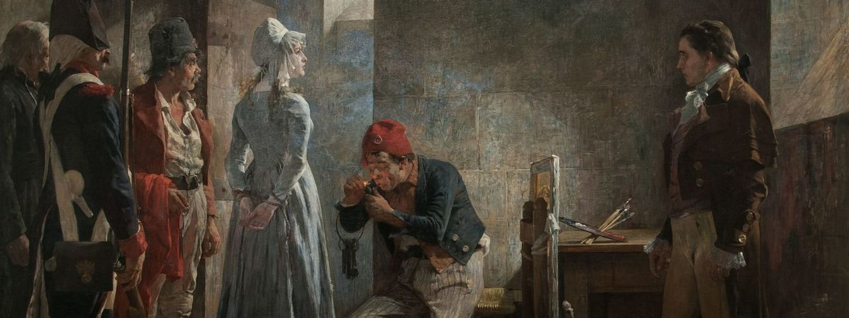 Шарлотта Корде идет на казнь