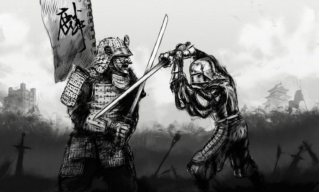 Самурай в битве