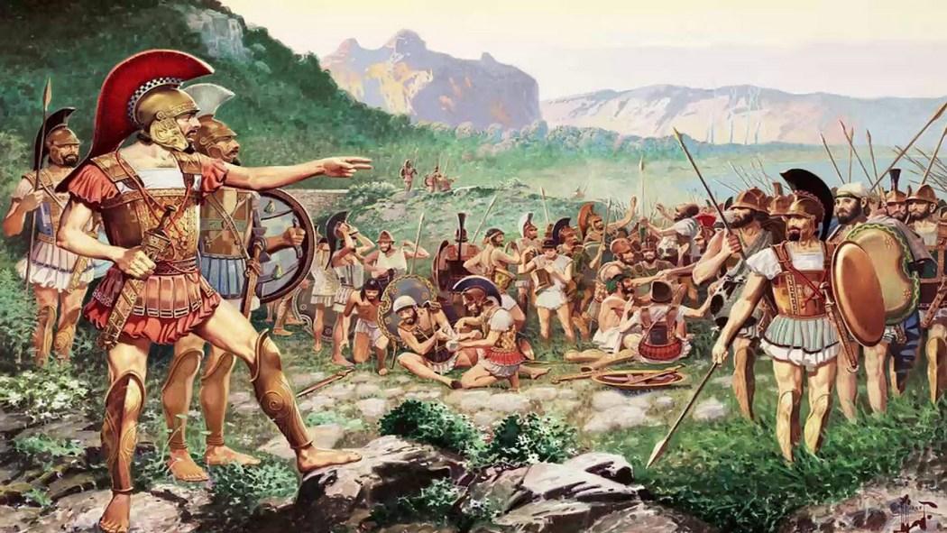 Спартанцы после битвы