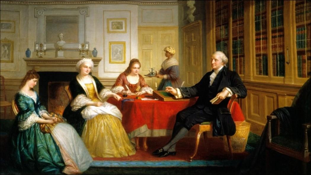 Джордж Вашингтон в компании дам