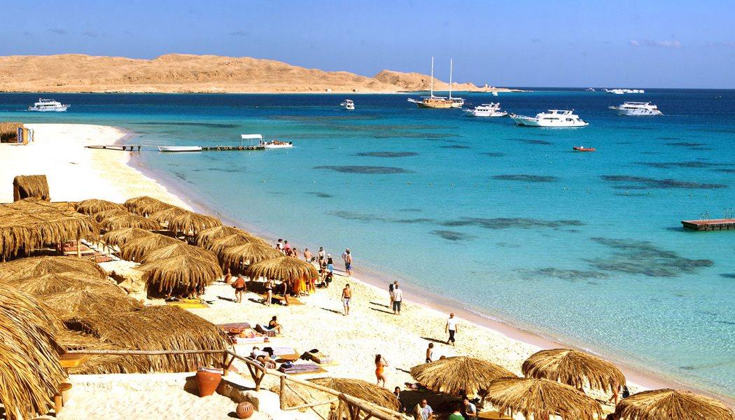 Пляж города Хургады, Египет