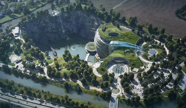 Подземный отель в Китае