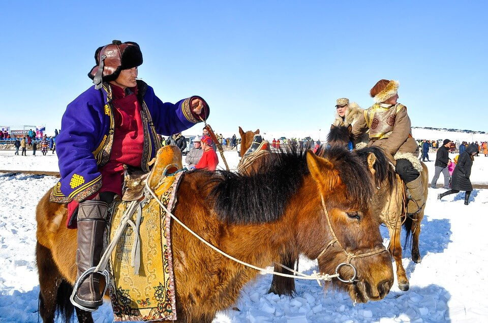 Всадник в Монголии