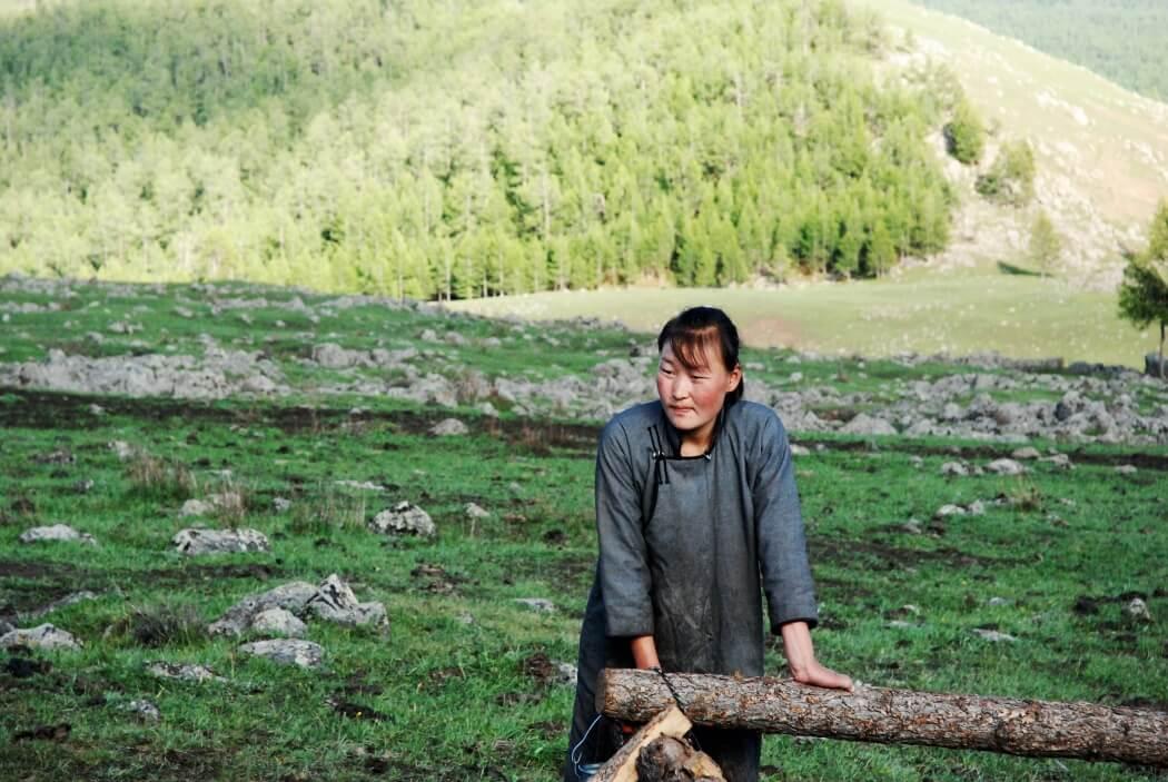 Женщина в Монголии