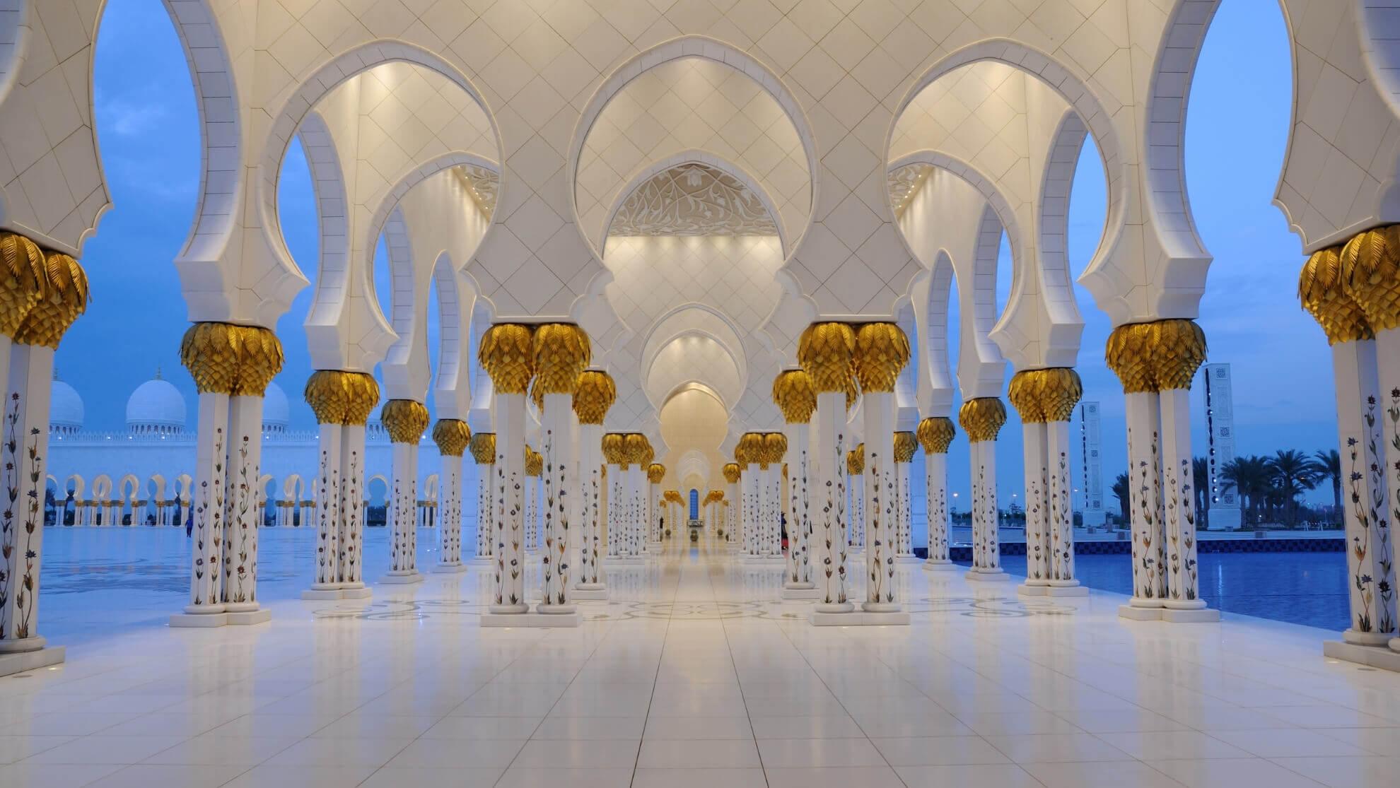 Мечеть Шейха Зайда, арки