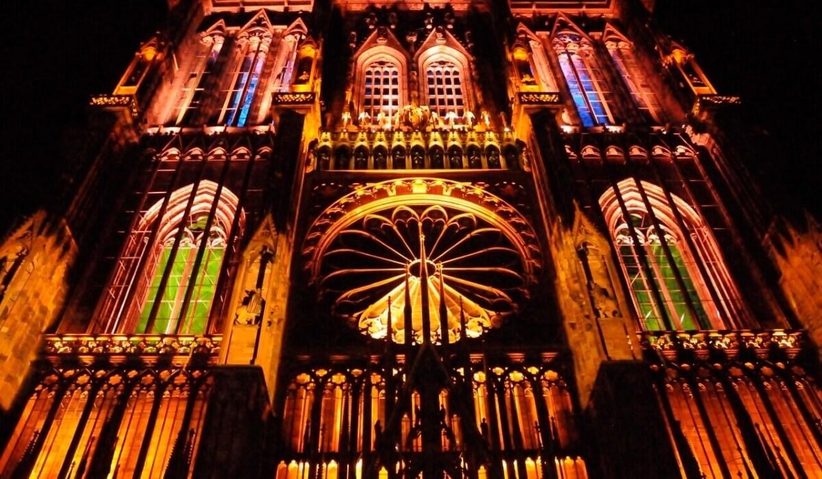 Cтрасбургский собор вечером