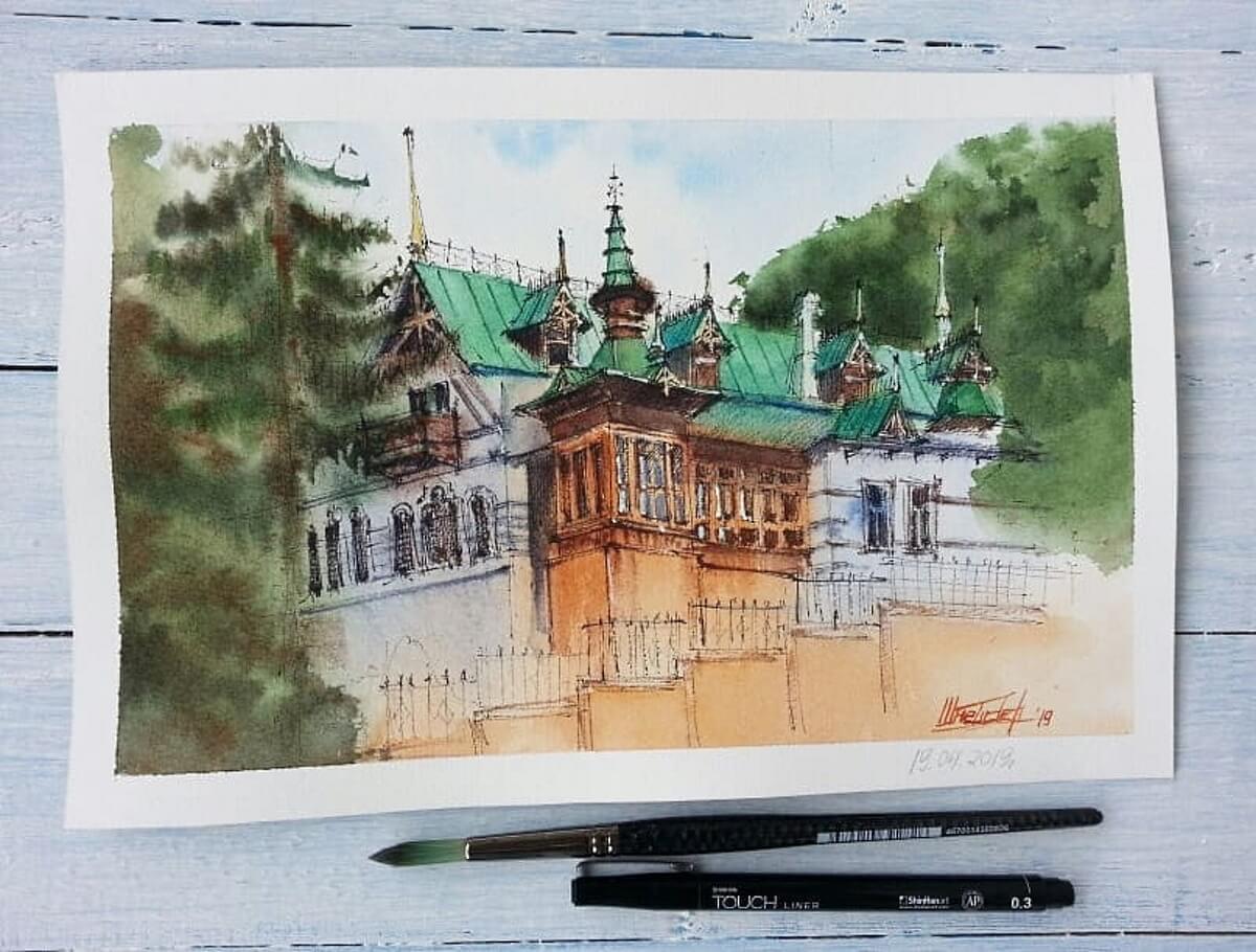 Картина «Дача Шаляпина в Кисоловодске»