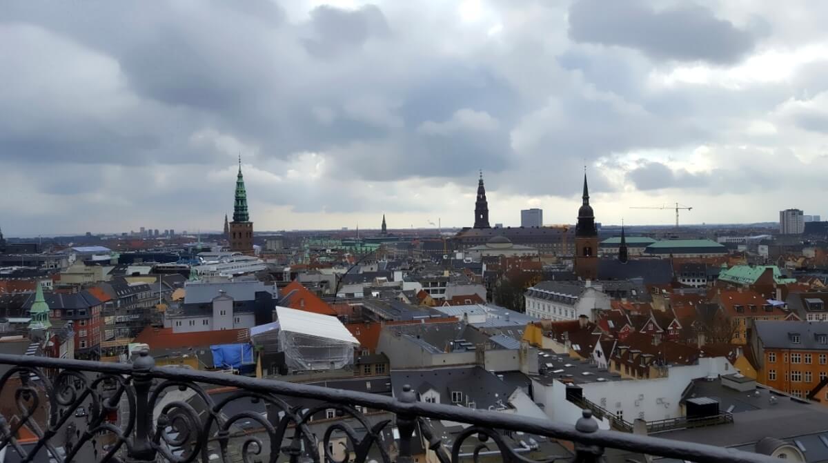 Вид на город с Круглой башни Копенгагена