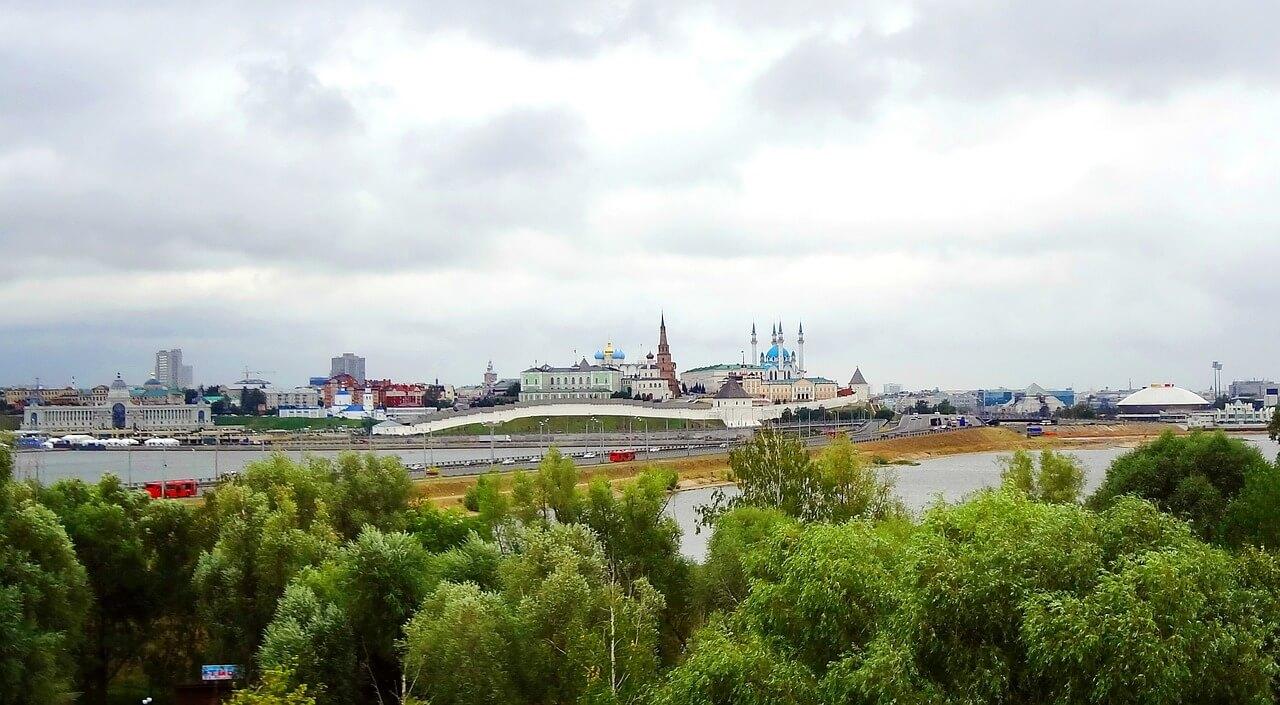 Вид на Казань
