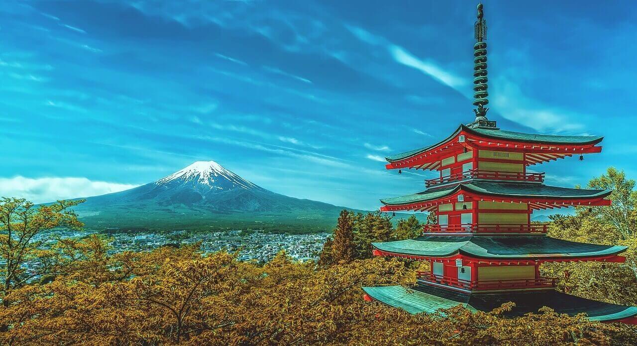 Гора в Японии