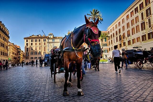 Конные экипажи в Риме запрещены