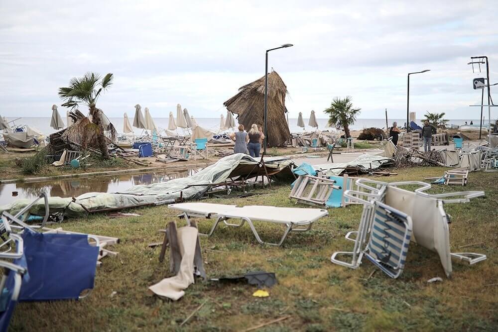 На Халкидиках во время урагана погибли двое россиян