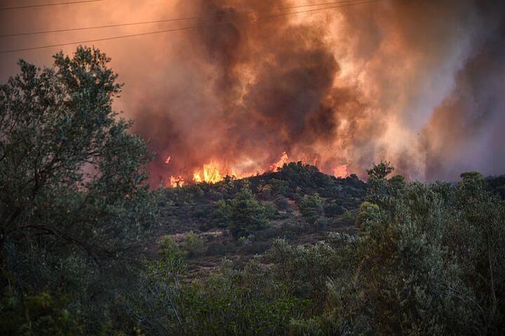 Пожары в Греции