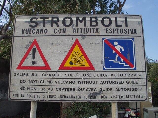 Запрет на вулкане Стромболи